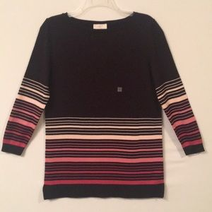 NWT LOFT Striped Lightweight Sweater SzMED